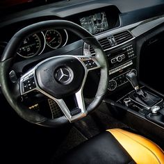 Command Central in the #C63 #AMG. #mercedes #benz #instacar