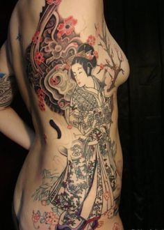 Japanese geisha tattoo - 70+ Awesome Tribal Tattoo Designs  <3 !