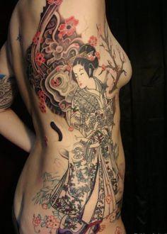 Japanese geisha tattoo - 70+ Awesome Tribal Tattoo Designs