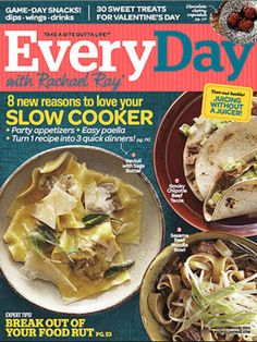 What's in the Issue: January/February 2014. Take a look inside the January/February 2014 issue of Every Day with Rachael Ray.