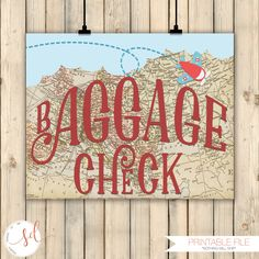 Vintage Travel Airplanes Birthday Party Sign, Baggage Check Sign, Around the World Theme Decor, Baby Shower Decor, Old Maps Decor, Digital by SquishyDesignsbyMe on Etsy