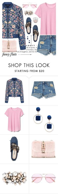 """""""it's about time"""" by michellenorris ❤ liked on Polyvore featuring Needle & Thread, rag & bone/JEAN, Gap, Sole Society, Miu Miu, Valentino, Henri Bendel, Oliver Peoples, Urban Decay and chicflats"""