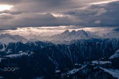 View from Crap Sogn Gion overlooking the towns of Laax, Flims and Falera