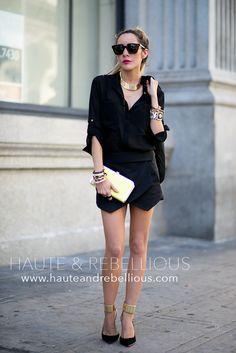 Black On Black ( Blazers & Shirts & Blouses ) Fashion 101, Daily Fashion, Autumn Fashion, Fashion Outfits, Womens Fashion, Street Fashion, Origami Skirt, Street Style, Weekend Style