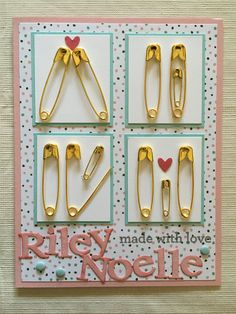 Presents for girls Perfect Gift For Boyfriend, Boyfriend Gifts, Baby Shower Cards, Baby Shower Gifts, Cute Gifts, Diy Gifts, Safety Pin Crafts, Shower Bebe, Baby Girl Cards