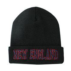 665ac6727ea Classic Cuff Beanie Hat - Black Cuffed Football Winter Skully Hat Knit  Toque Cap (New England)