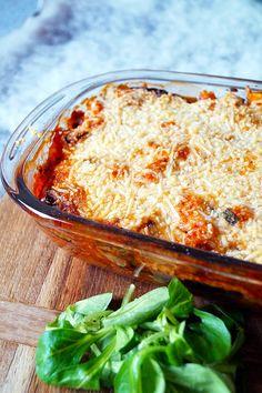 vegetarische lasagne met aubergine