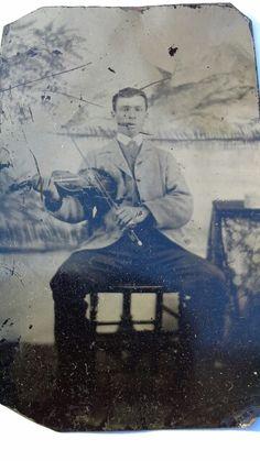 Metis fiddler Joe Dumas, n.d.