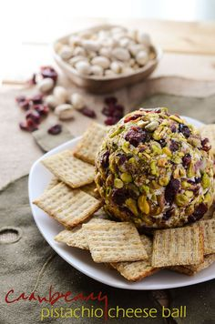 Cranberry Pistachio Cheese Ball - a perfect holiday appetizer | Get ...