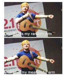 Hahaha I love him ;D Ed Sheeran describing the placement of his tattoos
