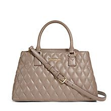 Quilted Emma Satchel in Taupe | Vera Bradley
