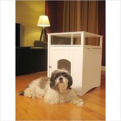 Merry Products Night Stand Pet House in White - MPS006