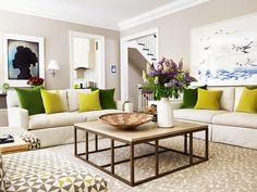 Living com almofadas decorativas