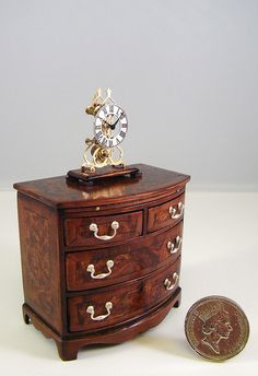 Skeleton Clock on Chest (12th scale) | Flickr - Photo Sharing! (Skeleton clock on chest by Keith Bougourd)