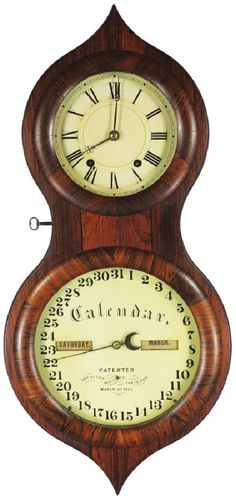 Lot: 1862 Seth Thomas Office Calendar Wall Clock, Lot Number: 0718, Starting Bid: $100, Auctioneer: Showtime Auction Services, Auction: Showtime's Spring Auction 2017, 1st Session, Date: March 31st, 2017 EEST