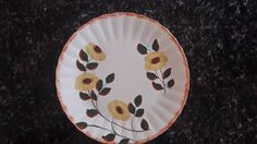 Vintage Flowered Blue Ridge Pottery Plate by CottageWelcome on Etsy