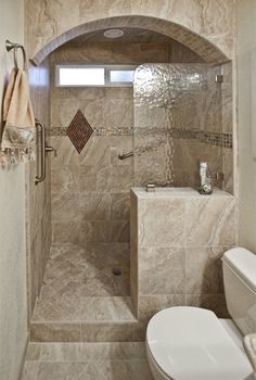 showers with pony walls - Google Search