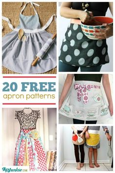 20 LOVELY APRON PATTERNS TO MAKE  Aprons make the best gifts.....    #apron #patterns #tomake - Tip Junkie - Google+