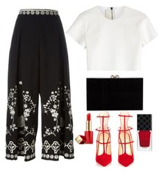 """Untitled #124"" by natali126 ❤ liked on Polyvore featuring Neil Barrett, Temperley London, Christian Louboutin, Charlotte Olympia, Estée Lauder and Gucci"