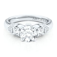 Artiste™ by Scott Kay 1/2 ct. tw. Diamond Semi-Mount Engagement Ring in 14K Gold
