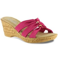 need these.....Tuscany by Easy Street Palermo Slide Wedge Sandals - Women
