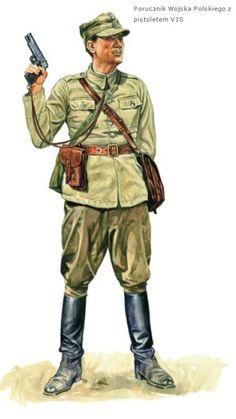 Esercito Polacco - Tenente di Fanteria, 1939 armato con pistola VIS