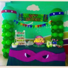 Tenage mutant ninja turtles balloons decorations TMNT Party ideas, bis balloons ideas, 3' balloons decorations