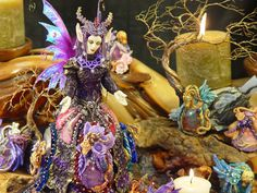 Tannara the Dragon Fairy OOAK doll. mixedmediaartistry via Etsy.