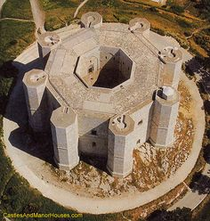 Castel del Monte (Castle of the Mount), Andria, Apulia region, Italy... www.castlesandmanorhouses.com ... Castel del Monte is a 13th-century citdel and castle. It was constructed on a promontory, during the 1240s, by the Emperor Frederick II, who had inherited the lands from his mother, Constance of Sicily.