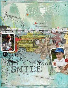 Find a reason. Altered Art, Digital Scrapbooking, Baseball Cards, Stitch, Creative, Artist, Full Stop, Artists, Sew