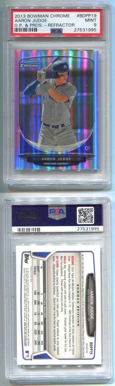 Sports Memorabilia: 2013 Bowman Chrome Draft Aaron Judge Refractor Rookie #19 Psa 9 Mint -> BUY IT NOW ONLY: $475 on eBay!