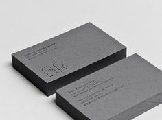 Business card concept for the Innsbruck based Bureau Rabensteiner.
