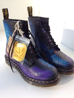 HandPainted Galaxy Doc Marten Boots by synonymouswith on Etsy