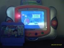 Vtech V Learning System Pocket Game Orange V.SmileSLIGHTLY USED THE SCREEN DOES HAVE A FEW SCRATCHES BUT IT DOESN'T EFFECT PLAYBATTERIES NOT INCLUDED Product Features    Handheld learning system combines video games and educational content appropr...