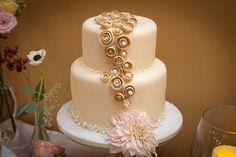 lovely two tiered wedding cake