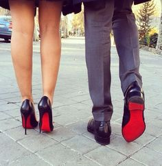 Bloody Bottoms! Louboutins for him and her :)