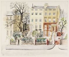 Houses in Marlborough Hill, St. John's Wood; Recording Britain | Enid Marx | V&A Search the Collections