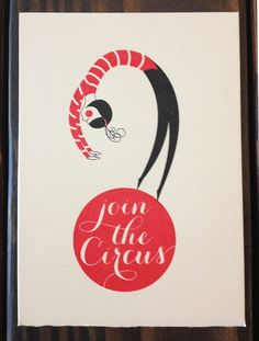 Run away & join the circus Gocco by jlabieni on Etsy