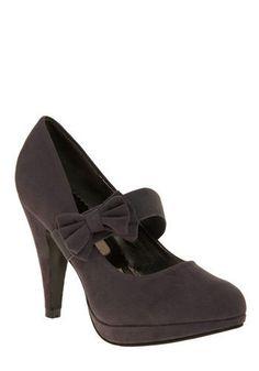 brown velvet vintage heels