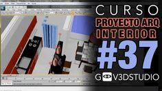 3ds max Proyecto Arquitectura Interior -37- Materiales Vray Paredes Puertas Ventanas