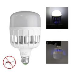 E27 20W 42LEDs 1000LM Bug Zapper Anti -Mosquito Light Bulb Flying Insects Killer AC220V