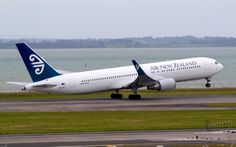 Air New Zealand 767 taking off from Auckland Type: Boeing Registration: ZK-NCI Location: Auckland International Airport Date: Air New Zealand, Classic Image, Airports, International Airport, Auckland, Airplanes, Cool Photos, Aviation, Aircraft