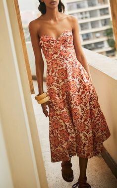 Meditate In Flowers Silk Midi Dress By Johanna Ortiz   Moda Operandi