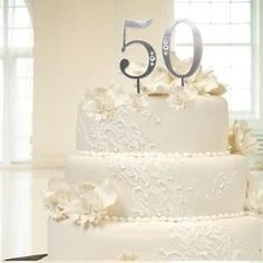 50th wedding cake