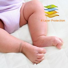 Crib Mattress Protector Pad - Waterproof Baby Nursery Bedding Cover - Soft Organic Cotton Fitted Bed Saver, Breathable Sheets, Hypoallergenic, Non-Toxic & Washable Baby Nursery Bedding, Crib Mattress, Mattress Protector, Baby Essentials, Bed Covers, Cribs, Organic Cotton, Fiber, Amazon