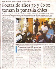 PAC 1 Documental POESÍA DE LOS 70 y 80; Fondo de fomento al libro en medios de comunicación.