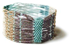Adele Kimpell- love the colors used in this piece (looks like peyote stitch, netting)