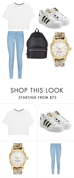 """""""Untitled #47"""" by mrianaah ❤ liked on Polyvore featuring Pinko, adidas Originals, Kate Spade, 7 For All Mankind, Yves Saint Laurent, women's clothing, women's fashion, women, female and woman"""