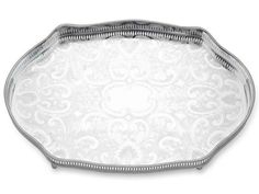 Reed & Barton Gallery Silver Plated Oval Tray 18""