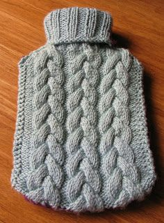 The Cake Plate: Toasty - Cabled Hot Water Bottle Cover Pattern